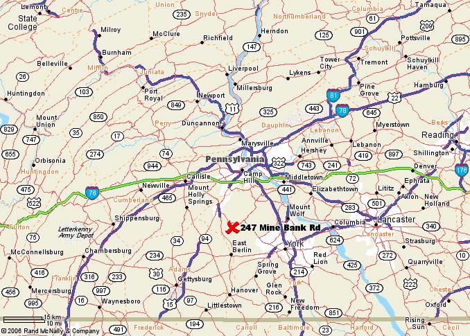 Central Penn Radon service area map